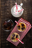 Iced coffee with milk Royalty Free Stock Photo