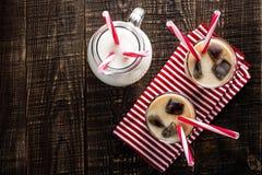 Iced coffee with milk Stock Photo