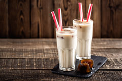 Iced coffee with milk Stock Images