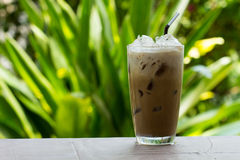 Iced coffee with milk Royalty Free Stock Image