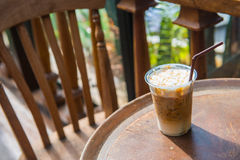 Iced coffee mocha with caramel. Beverage Stock Photography
