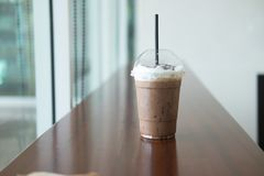 Iced coffee or mocha cup Royalty Free Stock Images