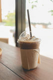 Iced coffee in relax time Royalty Free Stock Photography