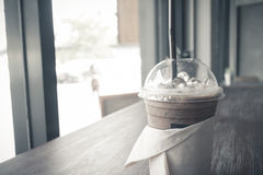 Iced coffee in relax time Stock Images