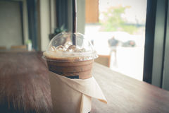 Iced coffee in relax time Royalty Free Stock Photo