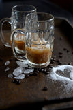 Iced coffee sugar Royalty Free Stock Images
