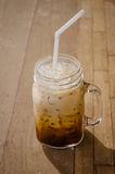 Iced coffee. On the table royalty free stock photos