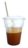 Iced coffee in take away cup Royalty Free Stock Photos