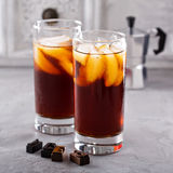 Iced coffee in tall glasses Stock Images