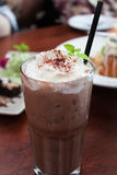 Iced coffee toping with whipped cream Stock Photography