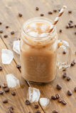 Iced coffee in vintage jar Stock Images