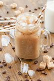 Iced coffee in vintage jar Stock Photo