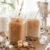 Iced coffee in vintage jar Stock Photography