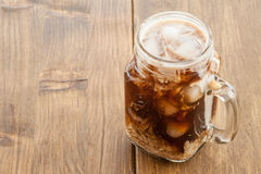 Iced coffee in vintage jar Royalty Free Stock Photography