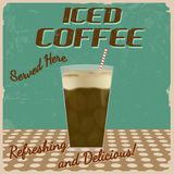 Iced coffee vintage poster Stock Photography