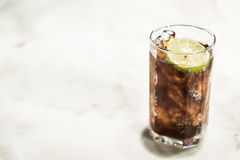Iced coke glass Stock Photos