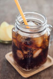 Iced cola with potato chips Stock Photos