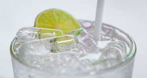 An iced cold Lemonade soda glass Royalty Free Stock Image