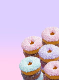 Iced colored donuts Royalty Free Stock Photo