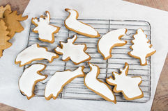 Iced cookies in animal shapes Stock Images