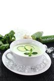Iced cucumber soup with mint Royalty Free Stock Photos