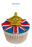 Iced cupcake. Royalty Free Stock Image