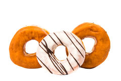 Iced donut isolated Stock Photo