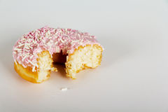 Iced doughnut on a light background Stock Images