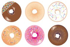 Iced doughnuts Royalty Free Stock Photos