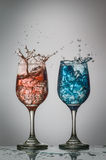 Iced Drinks Splashing Royalty Free Stock Photo