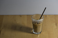Iced espresso coffee with milk. Stock Images