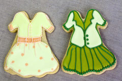 Iced fashion cookies. Stock Image