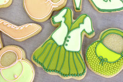 Iced fashion cookies. Stock Images
