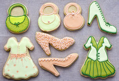 Iced fashion cookies. Stock Photography