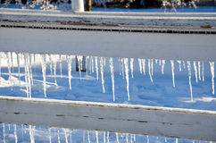 Iced fence 2 Stock Image