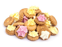 Iced Gem Biscuits Royalty Free Stock Photos