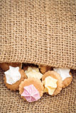 Iced Gem on Burlap Stock Photography
