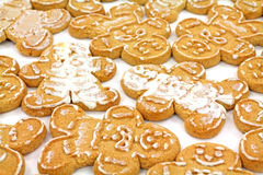 Iced ginger bread cookies Stock Photo