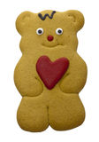 Iced gingerbread biscuit. Royalty Free Stock Photography