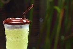 Iced green tea or green tea smoothie. There was an error with your request stock photography
