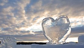 Iced heart. Taken out of Ice Hotel, in Kiruna, Sweden Royalty Free Stock Photo