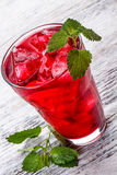 Iced hibiscus tea Royalty Free Stock Images