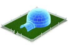 Iced igloo isolated on white background vector illustration
