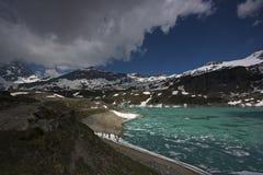 iced italiensk lake Arkivbilder