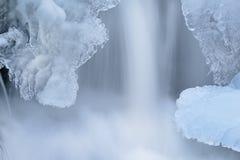 Iced kaskad Royaltyfria Foton