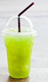 Iced kiwi juice Stock Photography