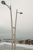 Iced lamppost Royalty Free Stock Image