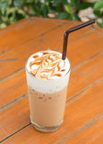 Iced latte stock photo