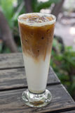 Iced latte coffee Royalty Free Stock Images