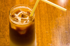 Iced latte coffee Royalty Free Stock Image